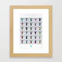 Spires Sodas Framed Art Print