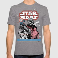 The Force Awakens Tri-Grey MEDIUM Mens Fitted Tee