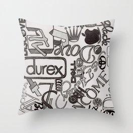 Logo Mania Throw Pillow