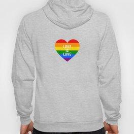 Love is love rainbow heart Hoody