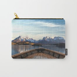 Torres del Paine National Park Chile, The Boat in Patagonia Carry-All Pouch