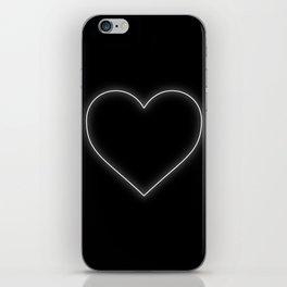 Neon White Valentines Love Heart iPhone Skin