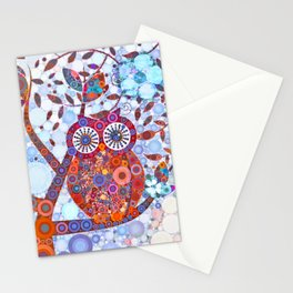 If Klimt Painted An Owl :) Owls are darling birds! Stationery Cards