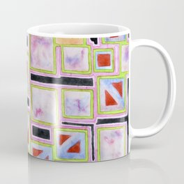 Composition out of Three Kind of Squares Coffee Mug