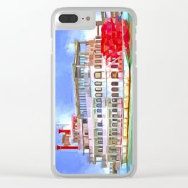 New Orleans Paddle Steamer Pop Art Clear iPhone Case
