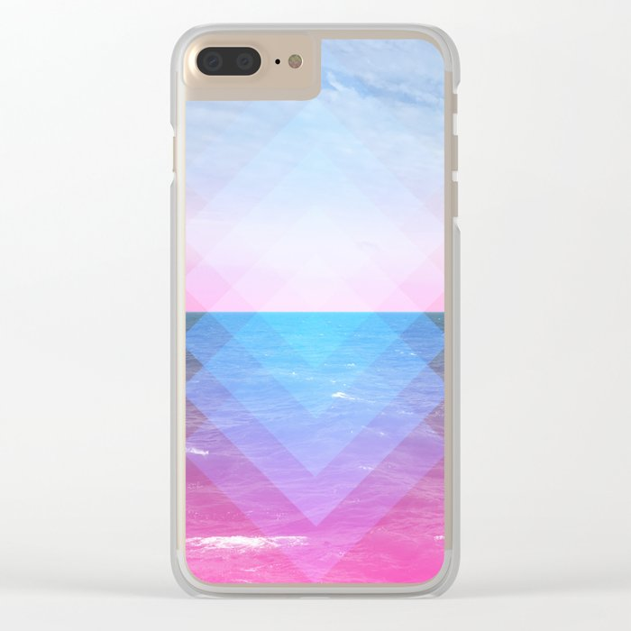 Sea Diamonds Clear iPhone Case