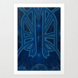 A Conversation in Blue Art Print