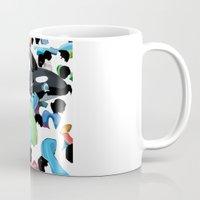 pool Mugs featuring Pool by kiwiroom