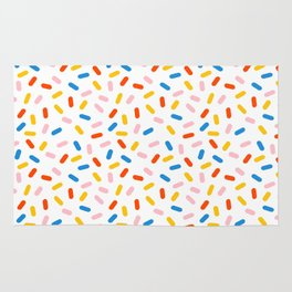 Livin' It - abstract pattern minimal modern primary colors pantone gender neutral retro throwback Rug