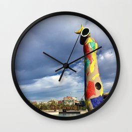 Joan Miró's Woman and Bird Sculpture Wall Clock