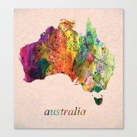 australia Canvas Prints featuring Australia  by mark ashkenazi