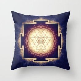 Sri Yantra IX Throw Pillow