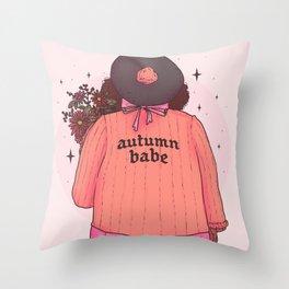 Autumn Babe Throw Pillow