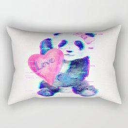 GLITCH PANDA Rectangular Pillow