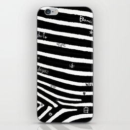 Black and white iPhone Skin