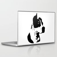 pitbull Laptop & iPad Skins featuring Pitbull Love! by Kristen Lord