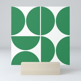 Mid Century Modern Green Square Mini Art Print