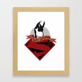 Swiss Superman - Cesaro design Framed Art Print