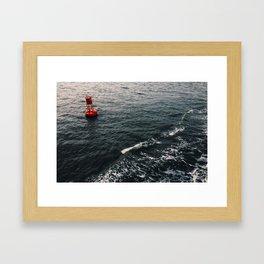 Bouy Red Framed Art Print