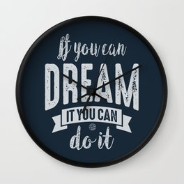 You Can do It - Motivation Wall Clock