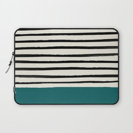 Dark Turquoise & Stripes Laptop Sleeve