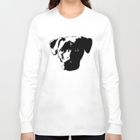 pit bull Long Sleeve T-shirts featuring Lab Pit Bull by MIX INX