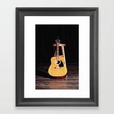 The Silent Guitar Framed Art Print