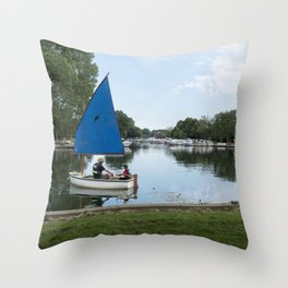 Learning to Sail Throw Pillow