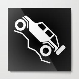 Offroad 4wd Rock Crawling Logo Metal Print