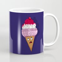 cocaine Mugs featuring There's Never Gonna Be Enough Ice Cream! by Chris Piascik