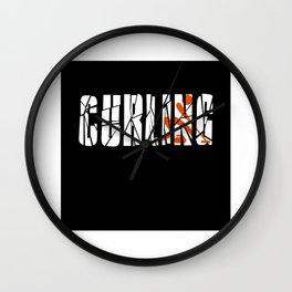 Curling Curling Gift Idea Design Motif Wall Clock