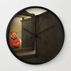 He Waits Silently  Wall Clock