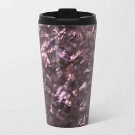 Pink Rainbow Shimmering Mother of Pearl Travel Mug
