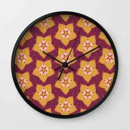 Hoya Gold Wall Clock