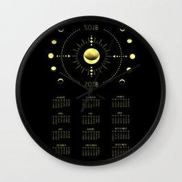 2018 Cosmic Calendar Wall Clock