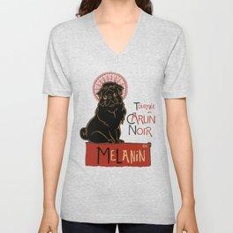 Le Carlin Noir (The Black Pug) Unisex V-Neck