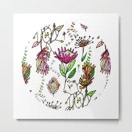Protea Flower Pink #homedecor Metal Print