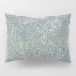 Blue Inked Orchids Pillow Sham