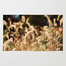 Golden Autumn Grass Rug
