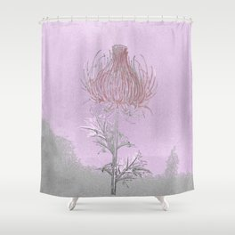 Thistle- everyone manages a plume of blood Shower Curtain