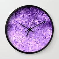 lavender Wall Clocks featuring LavendeR by Simply Chic