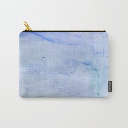 Hand painted blue green abstract watercolor pattern Carry-All Pouch