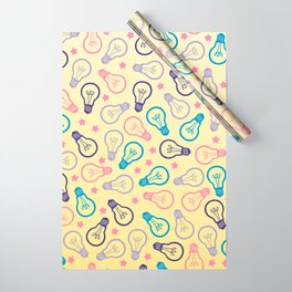 Cute Pastels Light bulb Pattern Wrapping Paper