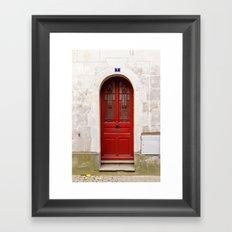 Little Red Door Framed Art Print
