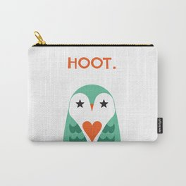 Hoot. Says The Love Owl. Carry-All Pouch