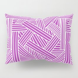 Sketchy Abstract (White & Purple Pattern) Pillow Sham