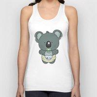 cartoons Tank Tops featuring Baby koala by mangulica