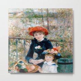 Pierre-Auguste Renoir's Two Sisters (On the Terrace) Metal Print