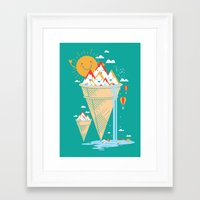 island Framed Art Prints featuring mystery island by Steven Toang