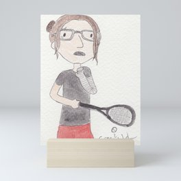 Attempting To Play Squash Mini Art Print